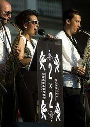 2x2 Saxophone Quartet и Лина Нова. Джаз на сцене White Night